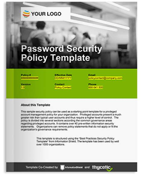 password policy template it security resources for privileged account management
