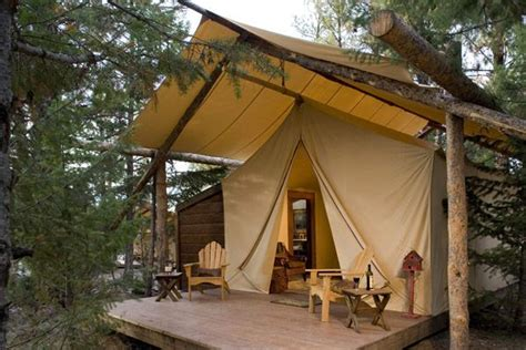 permanent tent cabins semi permanent cing tents patio ideas pinterest