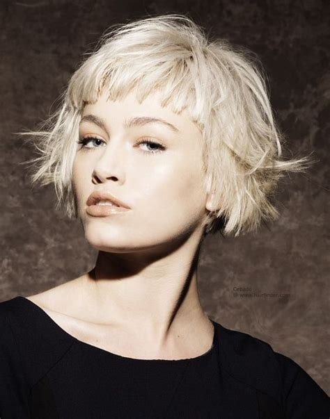 funky fringes razored piecy disconnected platinum blonde hair bob