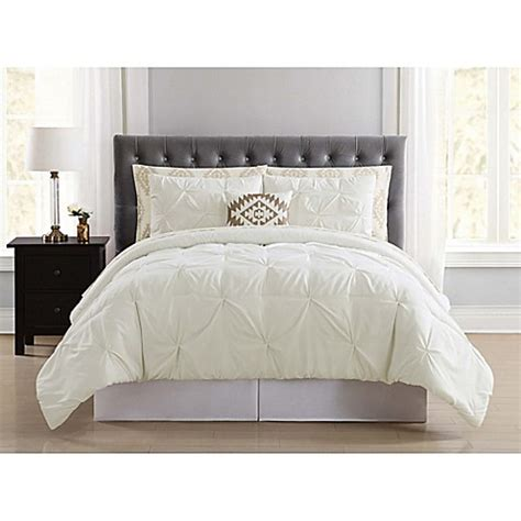 bed bath and beyond pueblo buy truly soft pueblo pleated 8 piece queen comforter set