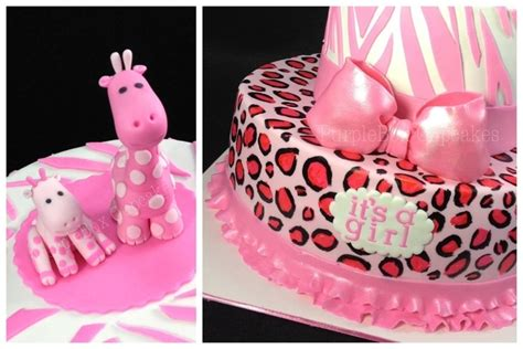 Pink Safari Theme Baby Shower by Safari Pink Baby Shower Cake Cakecentral