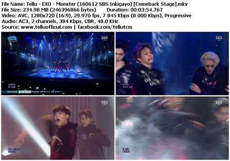 download perf exo lucky one monster mbc music core download perf exo lucky one monster sbs inkigayo
