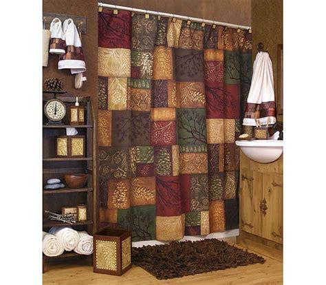 adirondack pine shower curtain adirondack pine shower curtain and bath accessories