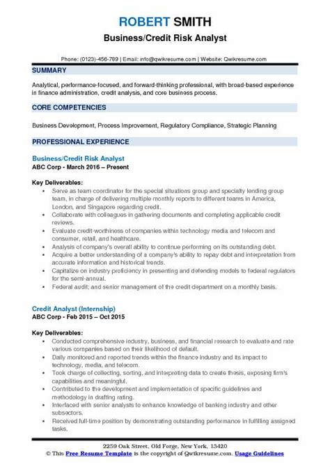 Credit Risk Manager Resume Sle by Telecom Business Analyst Resume Telecom Data Analyst