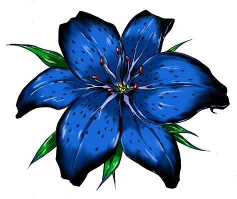 blue lily tattoo design blue tattoos