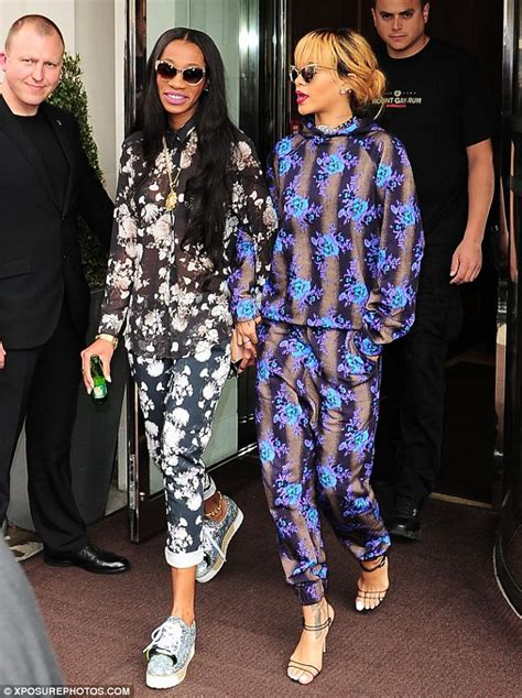 rihanna and best friend melissa forde step out in casual