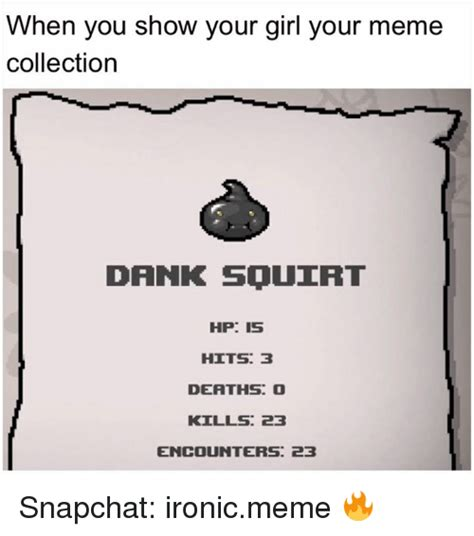 Meme Collection - when you show your girl your meme collection dank squirt