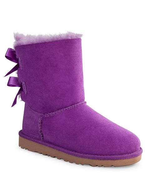 purple ugg boots ugg baily bow boots in purple lyst