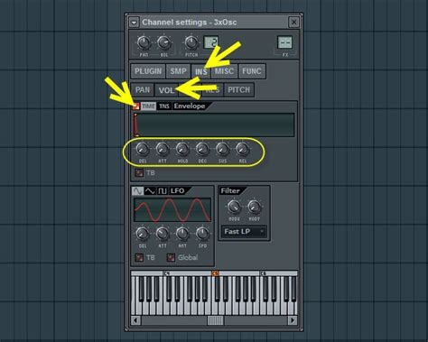 volume envelope pattern fl studio second method sine volume envelope how to make