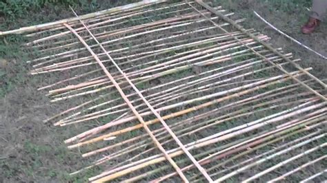 constructing bamboo fence pt 1 youtube