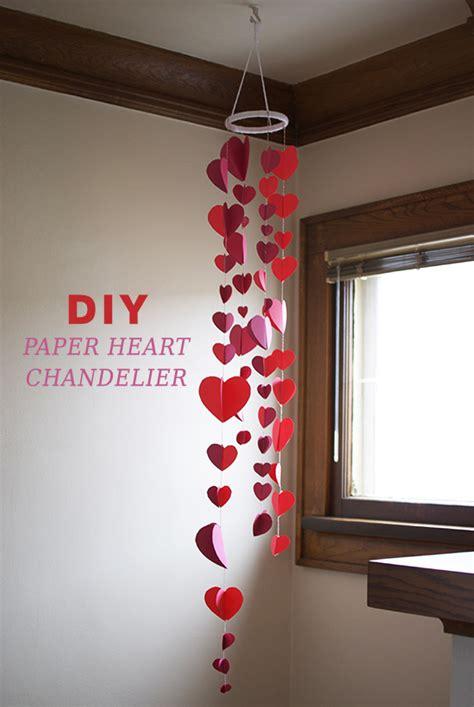 easy diy valentines decorations diy paper chandelier s day decor