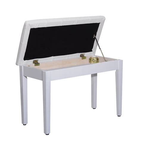piano bench white white piano bench home d 233 cor aosom ca