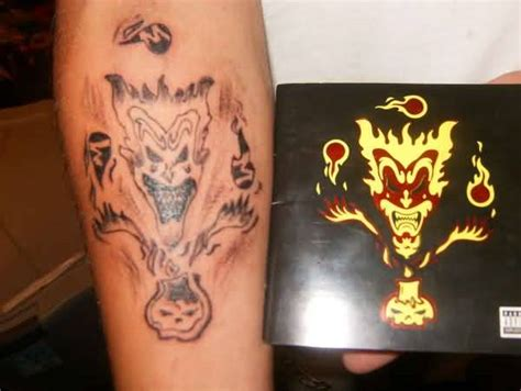 icp tattoos best joker icp design tattooshunter