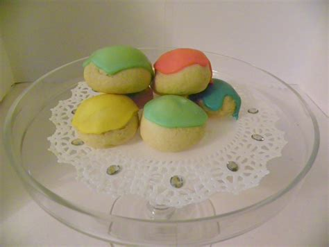 Old Fashioned Italian Wedding Cookies Colorful Icing 2 Dozen