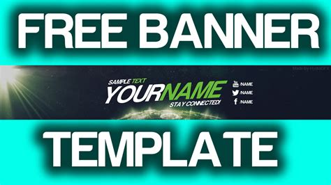 Giveaway For Youtube - giveaway free space theme youtube banner template psd youtube