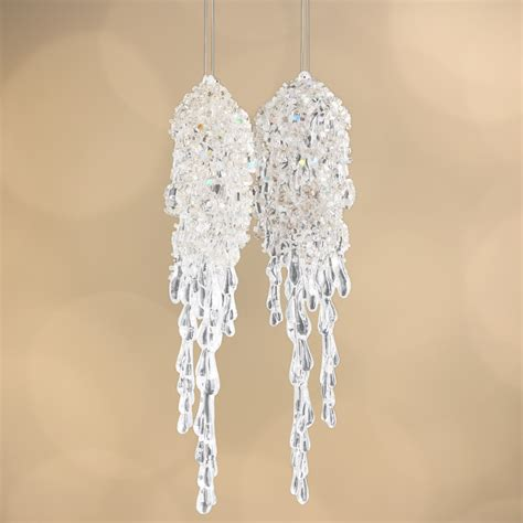 beaded acrylic icicle ornaments what s new holiday crafts