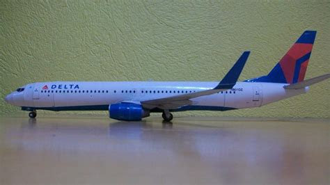 Rc Pesawat Airbus new paper craft delta airlines boeing 737 900 free
