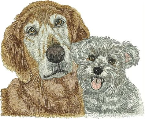 Embroidery Design Dog | 2 dogs free embroidery design free embroidery designs