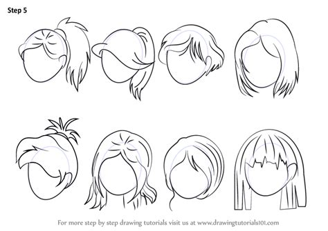 anime hairstyles female tutorial drawing anime hair pictures to pin on pinterest pinsdaddy