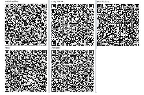 qr code shiny pokemon volcanion shiny qr codes come and get yveltal xerneas