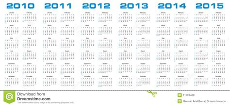 Kalender F R 2015 Kalender F 252 R 2010 Bis 2015 Stockfoto Bild 11791460
