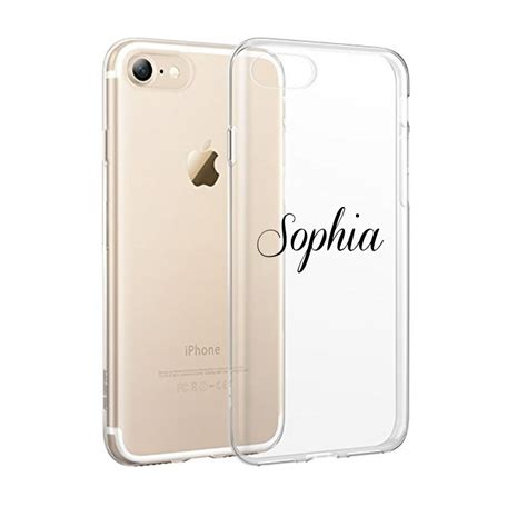 Casing Iphone 7 Plus Custom 1 custom name transparent clear tpu for iphone 7 7 plus 6 6s personalised ebay