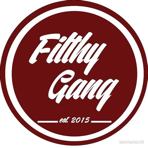 maroon logo quot quot filthy gang quot logo maroon quot art prints by benblackbu16