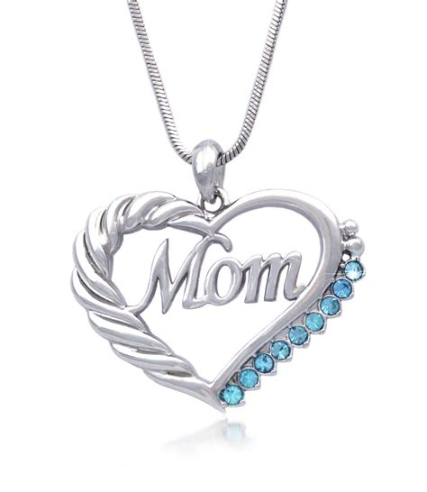 heart mom necklace mothers day birthday gift for wife mom