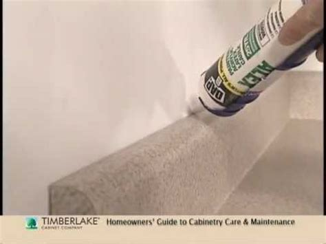 Caulking Kitchen Backsplash by Caulking Gaps A Homeowner How To Youtube