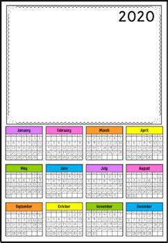 calendar  lauren fairclough teachers pay teachers