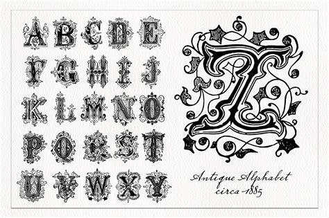 decorative alphabets decorative alphabet 1 photoshop brushes