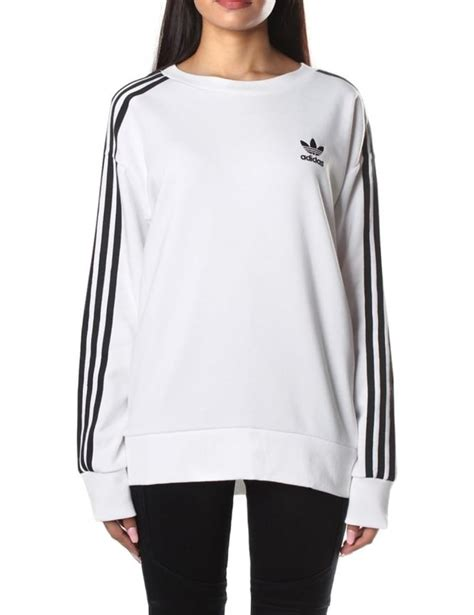 Sweater Adidas 3line adidas s 3 stripes a line sweatshirt white