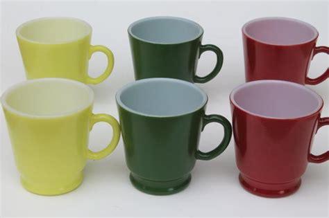 Kitchen Cups by Vintage Pyrex Type Kitchen Glass Cups Set Of Hazel Atlas