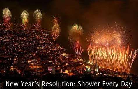 new year s resolution shower every day self stairway