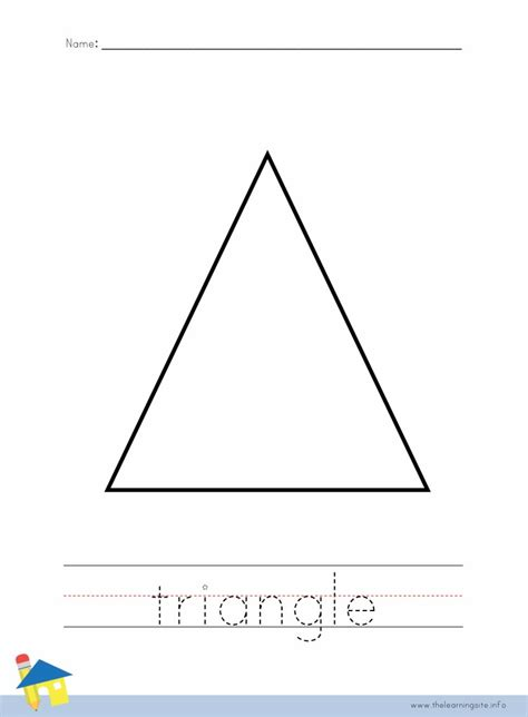 triangle coloring pages for toddlers triangle coloring pages