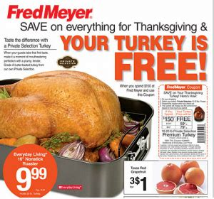 printable thanksgiving grocery coupons fred meyer deals nov 11 17 free turkey with 150