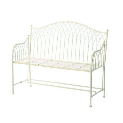 cream garden bench cream metal garden bench homegenies