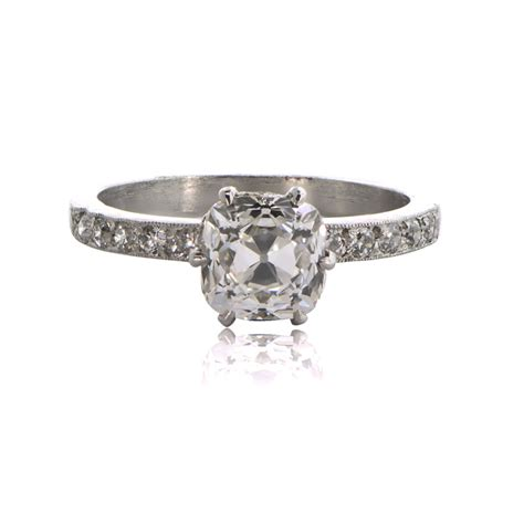 cushion cut engagement ring estate jewelry