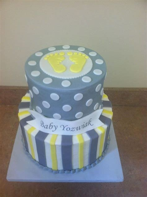 Yellow And Grey Baby Shower Cake by 25 Best Ideas About Yellow Baby Showers On