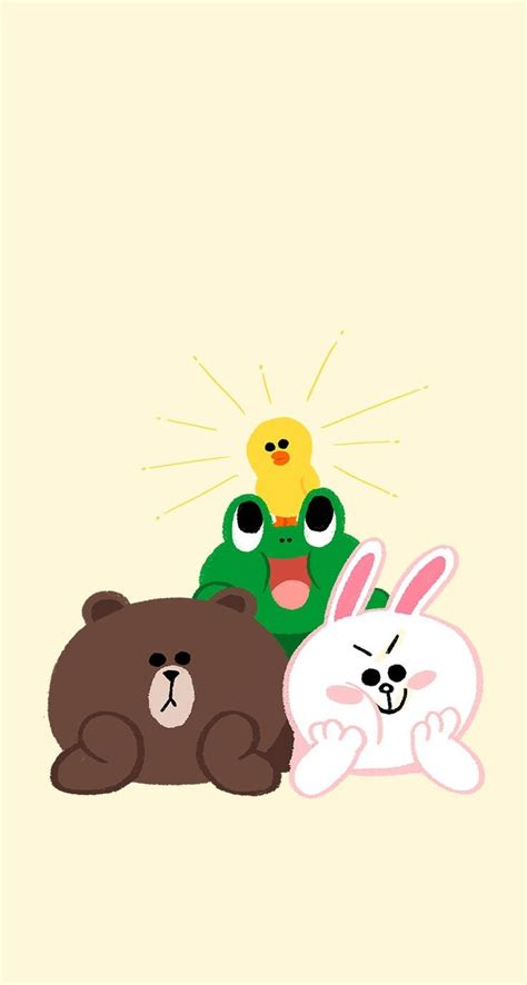 Kaos Line Emoticon Brown 17 17 best images about line brown cony on