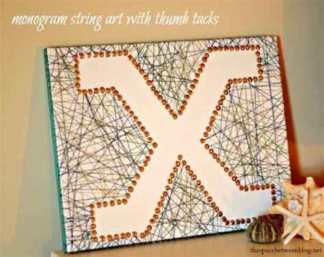 Monogram String - monogram string with thumb tacks