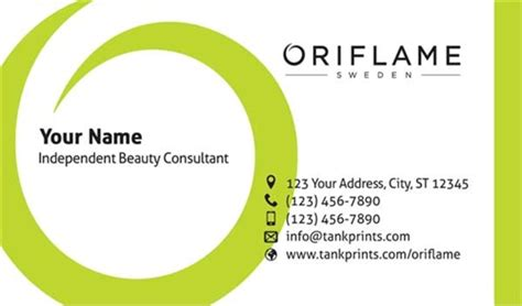 Home Design Store Usa by Oriflame Business Card Design 2