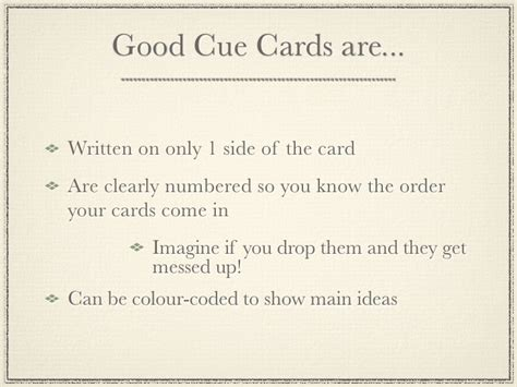 speech cue cards template writing cue cards