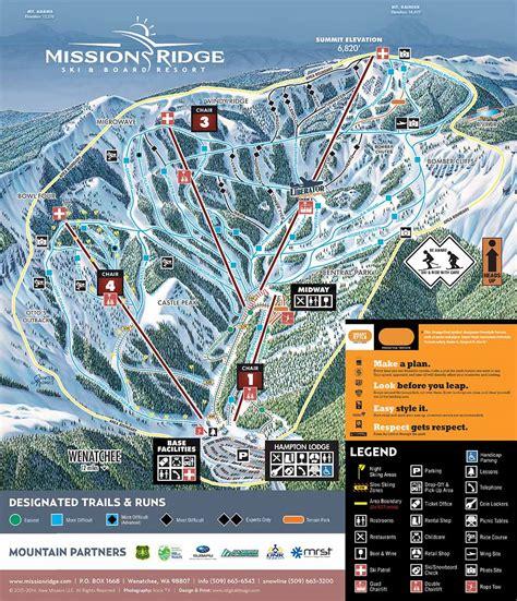 Mission Dining Room by Trail Map Mission Ridge Ski Amp Board Resort