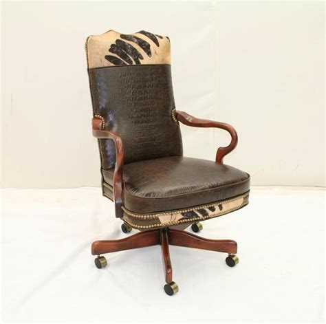 rustic desk chair western desk chair western office chair