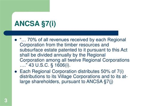 corporations act section 50 ppt alaska native law section ancsa 7 i 2006 ancsa