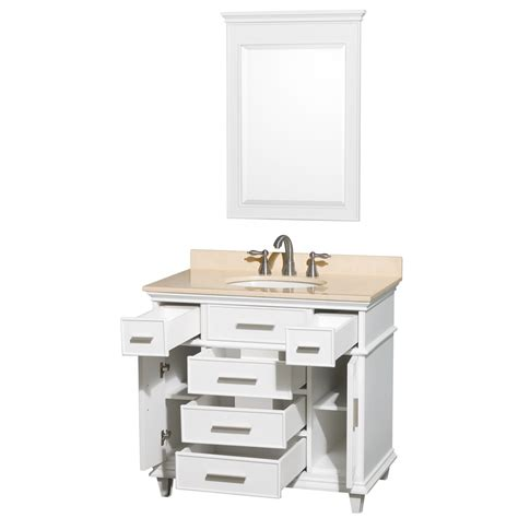 avola windsor 36 inch white finish bathroom vanity