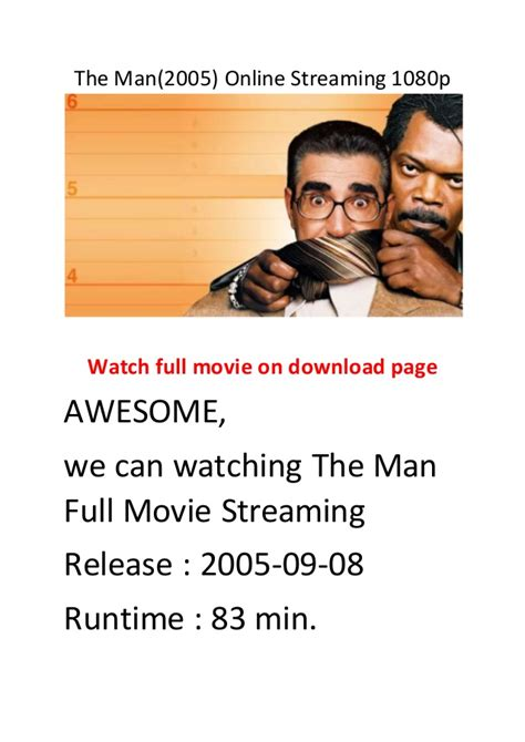 hottest action comedy film the man 2005 online streaming 1080p hollywood best action