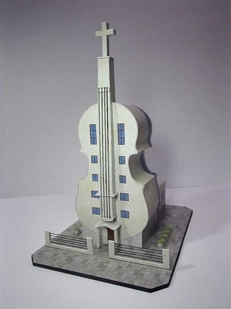 Violin Papercraft - papercraftsquare new paper craft violin church in fo