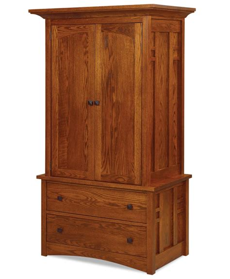 2 drawer armoire kascade 2 piece 2 drawer 2 door armoire amish direct